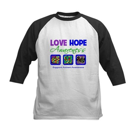 Autism Love Hope Kids Baseball Jersey