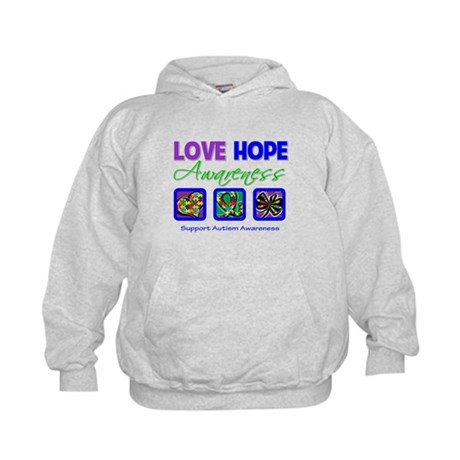 Autism Love Hope Kids Hoodie