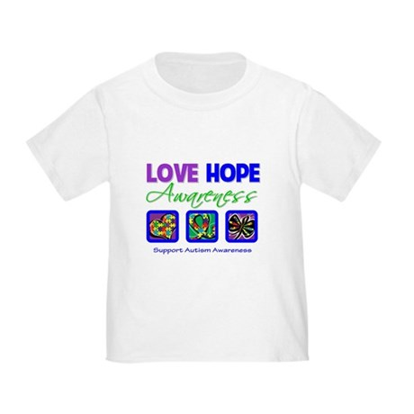 Autism Love Hope Toddler T-Shirt