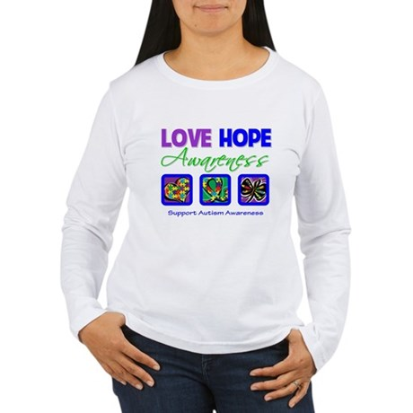 Autism Love Hope Women's Long Sleeve T-Shirt