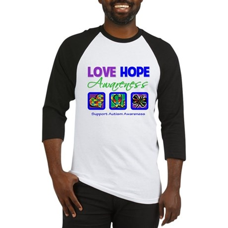 Autism Love Hope Baseball Jersey