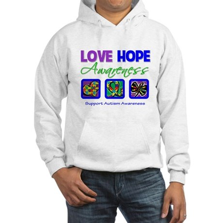 Autism Love Hope Hooded Sweatshirt
