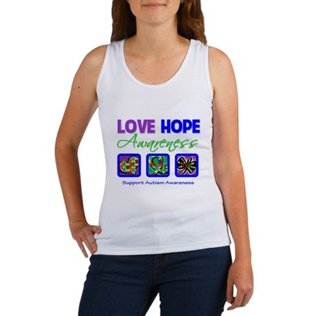 Autism Love Hope Women's Tank Top