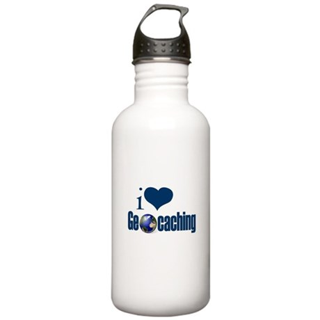 I Love Geocaching Stainless Water Bottle 1.0L