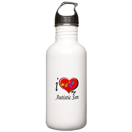I love my Autistic Son Stainless Water Bottle 1.0L