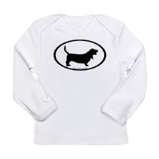 Cute Hound dog Long Sleeve Infant T-Shirt