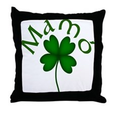Grandma's 4 Leaf Clover Throw Pillow