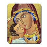 Russian Orthodox Icon of Mary & Jesus Mousepad