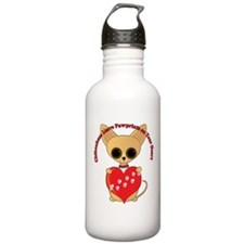 Chihuahua Valentine Sports Water Bottle
