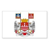 Belgrade Coat of Arms Rectangle Decal