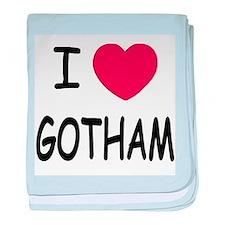 I heart Gotham baby blanket