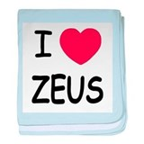 I heart Zeus baby blanket