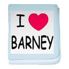 I heart Barney baby blanket