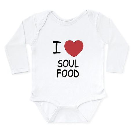 I heart soul food Long Sleeve Infant Bodysuit