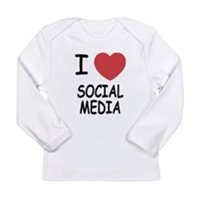 I heart social media Long Sleeve Infant T-Shirt
