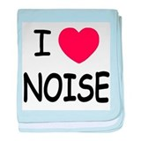 I love noise baby blanket