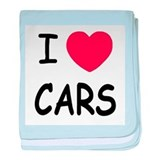 I love cars baby blanket