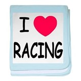I love racing baby blanket
