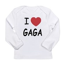 I heart gaga Long Sleeve Infant T-Shirt