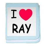 I heart ray baby blanket