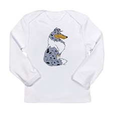 Blue Merle Rough Collie Long Sleeve Infant T-Shirt
