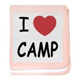 I heart camp baby blanket