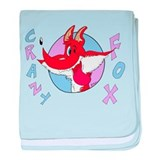 Crazy Cartoon Fox baby blanket