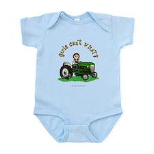 Light Green Farmer Infant Bodysuit