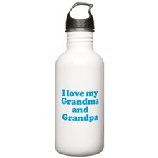 I Love My Grandparents Water Bottle