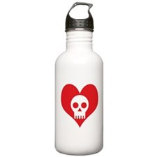 Heart and Skull Water Bottle
