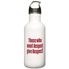 Demand respect Water Bottle
