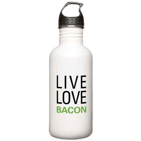 Live Love Bacon Stainless Water Bottle 1.0L