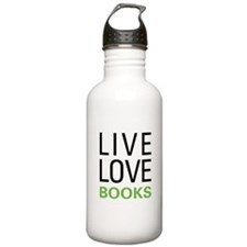 Live Love Books Water Bottle