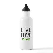Live Love Dive Water Bottle