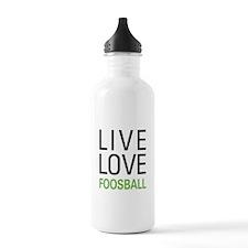 Live Love Foosball Water Bottle