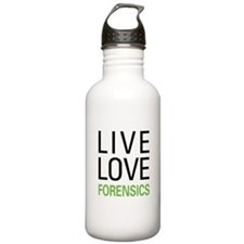 Live Love Forensics Water Bottle