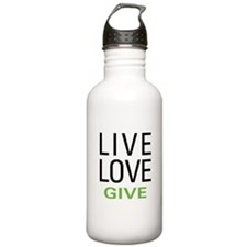Live Love Give Water Bottle