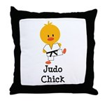 Judo Chick Throw Pillow