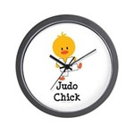 Judo Chick Wall Clock