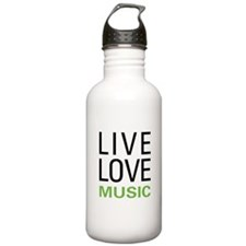 Live Love Music Water Bottle