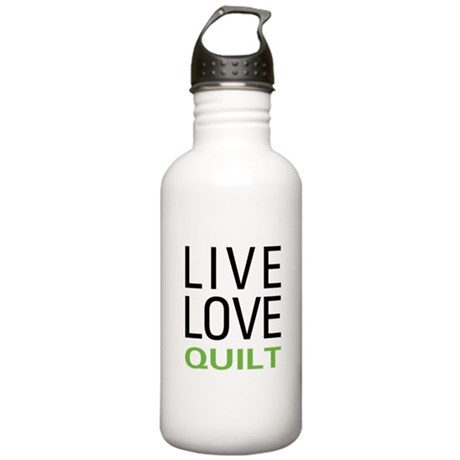 Live Love Quilt Stainless Water Bottle 1.0L