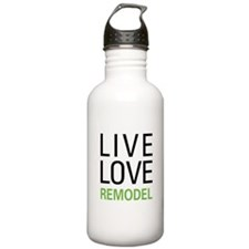 Live Love Remodel Sports Water Bottle