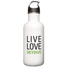 Live Love Skydive Water Bottle
