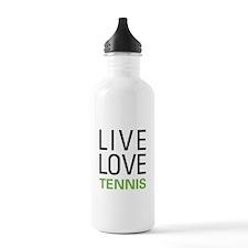 Live Love Tennis Sports Water Bottle
