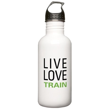 Live Love Train Stainless Water Bottle 1.0L