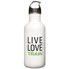 Live Love Train Water Bottle