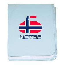 Norway Curling baby blanket