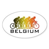 Belgium Cycling Decal