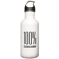 100 Percent Clean and Sober Water Bottle