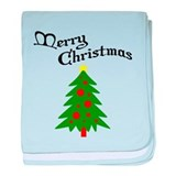 English Christmas Tree baby blanket